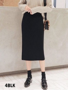 Cashmere Blend Solid Color Knitted Yarn Stretchy Skirt