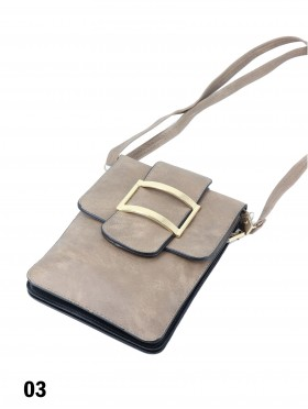 Faux Leather Cellphone Holder & Mini Purse W/ Ring