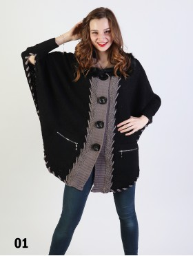 Casual Fur Poncho W/Pockets