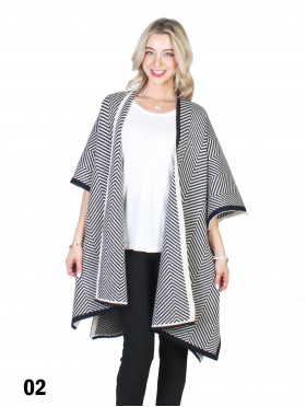 Chevron Fashion Vintage Sleeve Cape