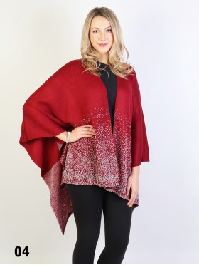 Glittery Snow Lurex Cape