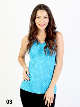 Summer Built-in Bra Dots Tank Top