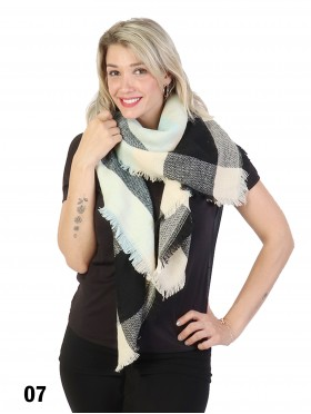 New Design Plaid Blanket Scarf