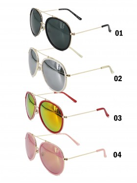 AVIATOR MIRROR SUNGLASSES - UNISEX