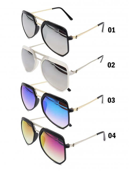 Oversize Aviator Mirror Fashion Sunglasses