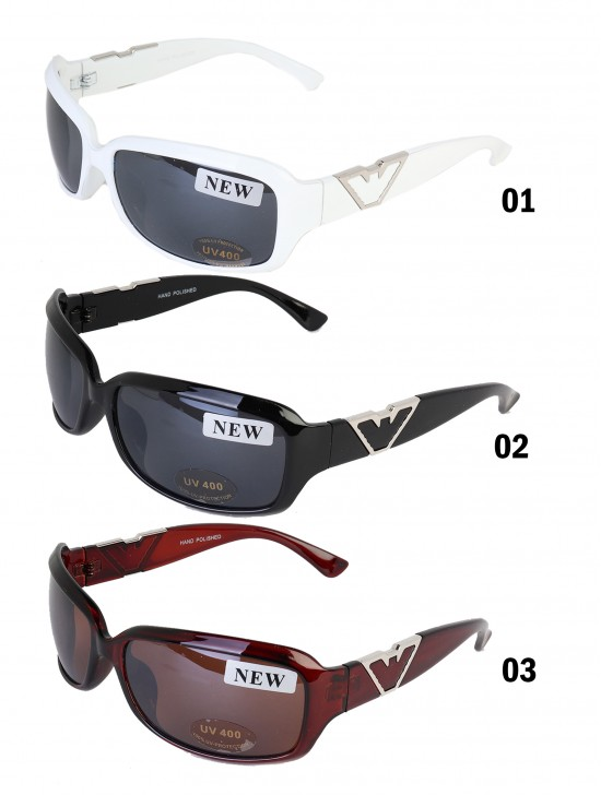 Oversize Sunglasses W/ Metal Side Frame