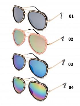 Aviator Mirror Oversized Fashion Sunglasses