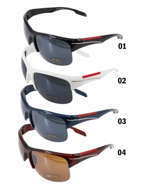RIMLESS BOLD SPORTY SUNGLASSES