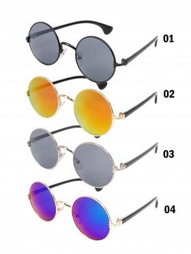 Aviator Mirror Circular Sunglasses