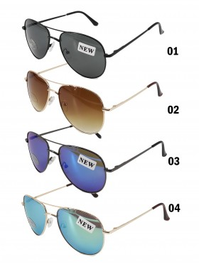 Aviator Mirror Fashion Sunglasses - Unisex