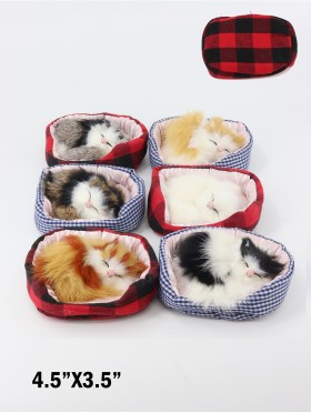 Sleeping Kitties Meow W/ Cushions