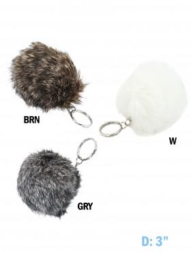 Fur Ball Charm Keychain