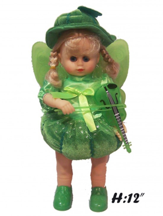GREEN FAIRY DOLL WITH VIOLIN
