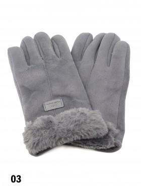Unisex Velvet & Fur Touch Screen Glove