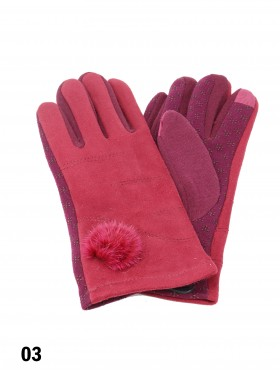 Touch Screen Glove W/ Pom Pom