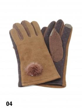Touch Screen Glove W/ Pom Pom