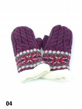 Fashion Knitted Edge Gloves (Gloves Only)