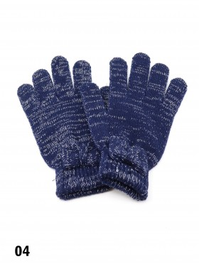 Fashion Knitted Gloves W/ Bow-tie (Gloves Only)