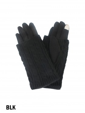 Cable Knit Vertical Touch Screen Glove