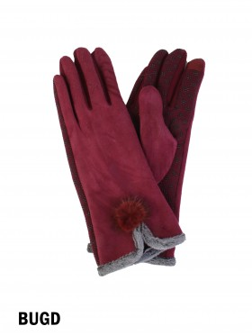 Faux Fur Touch Screen Glove