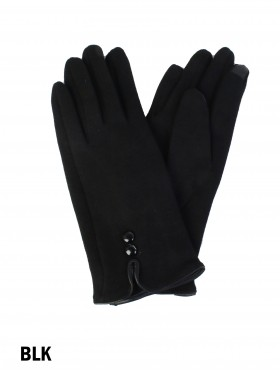 Buttoned Touch Screen Glove