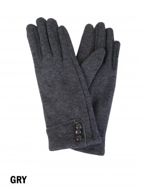 Triple Buttoned Touch Screen Glove