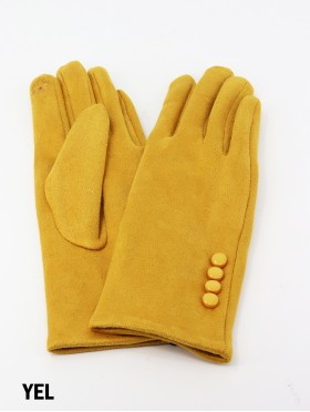 Stitched Button Touch Screen Glove