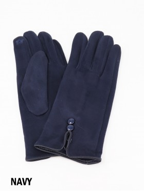 Suede Button Touch Screen Glove