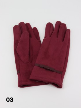 Stitched Bow Touch Screen Glove