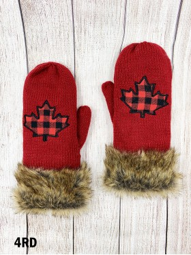 Double Layered Canada Themed Mittens