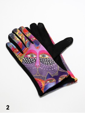 Artistic Cat Patterned Touch Screen Gloves
