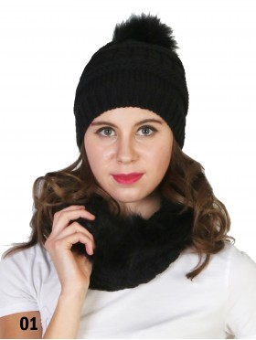 Fashion Knitted Furry Loop Scarf
