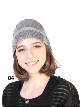 Two Tone Stripe Knitted Hat