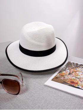 Summer Fedora Hat W/ Black Edge