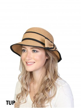 Summer Straw Hat W/ Bowknot