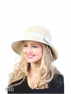 Summer Straw Hat W/ Ribbon Bow