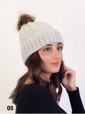 Soft Surface Knitted Hat W/ Removable Pom Pom (Plush Inside)