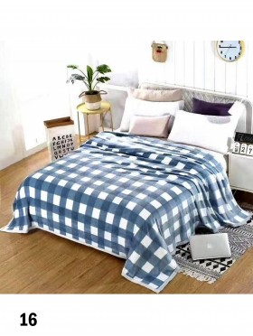 Embroidered Microfiber Soft Printed Flannel Blanket