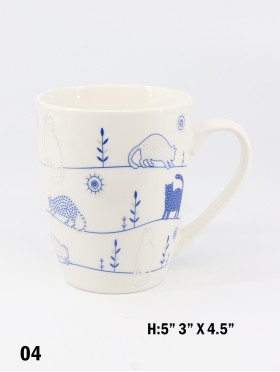 Lovely Cat Print Mug
