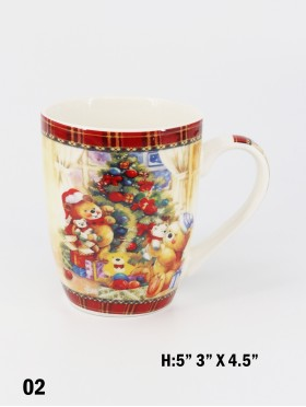 Christmas Teddy Bear Print Mug