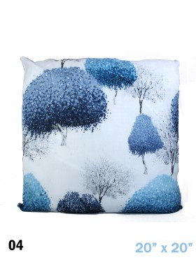 INKY TREES PRINT CUSHION & FILLER