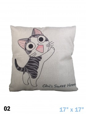 KITTEN PRINT CUSHION & FILLER