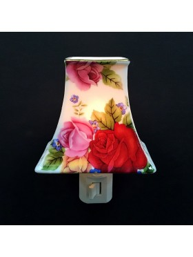 Porcelain Roses Lampshade Night Light