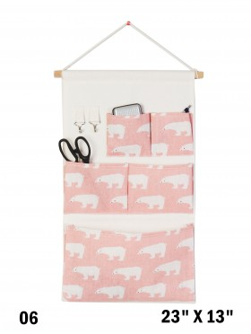 5 Pocket Organizer Storage Rack W/ Polar Bear Print