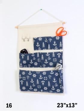 5 Pocket Organizer Storage Rack W/ Trees Print