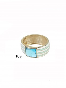 Stripe Bangle W/ Rhinestone