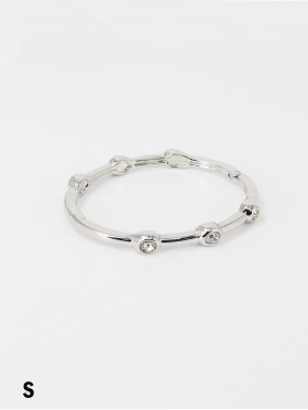 Classic Bangle W/ Circle Crystals