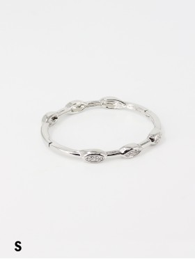 Classic Bangle w/ Oval Crystals