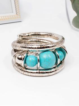 Multi Wrap Strerchy Bracelet W/ Color Balls