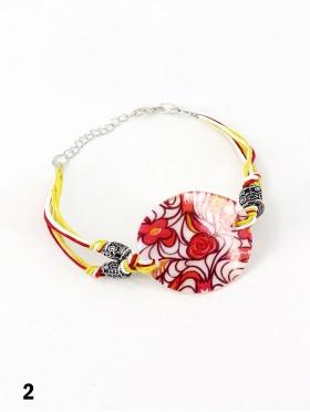 Fashion Flower Print Bracelet